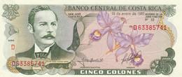 BANCONOTA COSTA RICA 5 UNC (MK604 - Costa Rica