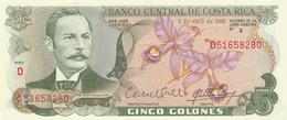 BANCONOTA COSTA RICA 5 UNC (MK605 - Costa Rica