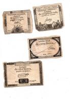 4  Assignats-1792-1793-An II - Unclassified