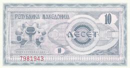 BANCONOTA MACEDONIA 10 UNC (MK679 - Macedonia