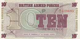 BANCONOTA BRITISH ARMED FORCE 10 UNC (MK728 - British Armed Forces & Special Vouchers