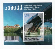 2177/ Slowenien Slovenia 2012 Mi.No. 971 ** MNH Chess Championship Schach Chesspiece Schachfigur Horse Pferde Bridge - Chess