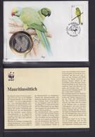 2003  Mauritius  WWF  Mauritiussittich  Numisbrief - Sonstige