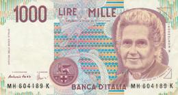 BANCONOTA ITALIA MONTESSORI 1000 EF (MK809 - 1000 Liras