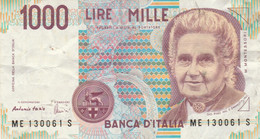 BANCONOTA ITALIA MONTESSORI 1000 VF (MK810 - 1000 Liras