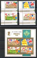 RC 20894 AITUTAKI COTE 11,25€ N° 172 / 175 + BF 9  SPORT JEUX OLYMPIQUES DE MONTREAL 1976 NEUF ** MNH TB - Aitutaki