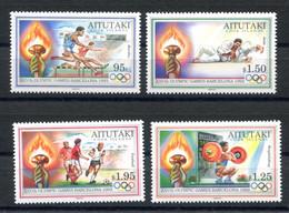 RC 20898 AITUTAKI COTE 15€ N° 506 / 509 SPORT JEUX OLYMPIQUES DE BARCELONE 1992 NEUF ** MNH TB - Aitutaki