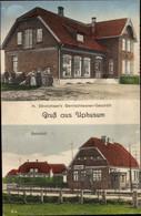 CPA Uphusum In Holstein, Gemischtwarengeschäft, Bahnhof - Andere
