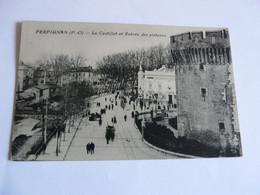 PERPIGNAN (Pyr.-Or.) - Le Castillet Et Entrée Des Platanes - Perpignan
