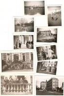 Lot De 16 Photographies Du Collège De Normandie, Mont-Cauvaire (76), Tilleuls, Jeux, Professeurs, Bâtiments, 1950 - Luoghi