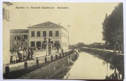 AGENZIA CA' RECANATI - MONASTIER (TREVISO) - VIAGGIATA 1915 - ANIMATA - Treviso