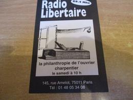 AUTOCOLLANT DE RADIO LIBERTAIRE 89.4 PARIS RUE AMELOT - Stickers