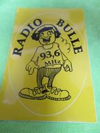 AUTOCOLLANT DE RADIO BULLE 93.6 - Stickers