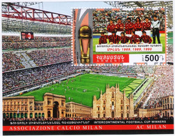 Armenia 2017 Sports. Intercontinental Football Cup, Winners. FC Milan (Soccer)  Block Of Stamps - Armenia