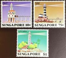 Singapore 1982 Lighthouses MNH - Singapore (1959-...)