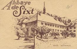 74 SIXT Abbaye De SIXT Hôtel Restaurant Casaï Propriétaire (Carte Publicité) - Saint-Gervais-les-Bains