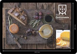 Portugal 2019 Dia Nacional Gastronomia  Portuguesa Postal Máximo Maximum Maxicard Bread Broa Queijo Fromage Viseu - Food