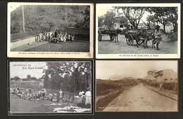 Conjunto De 4 Postais Antigos SÃO TOMÉ E PRINCIPE. Set 2 Postcards Saint Thomas & Prince COLONIAL AFRICA - Sao Tome And Principe
