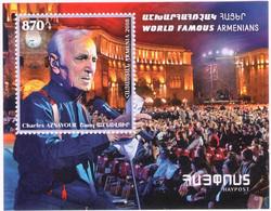Armenia 2018 World Famous Armenians: Chansonnier Charles Aznavour (Singer, Actor, Composer)  Block Of Stamps - Armenia