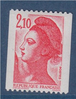 Type Liberté De Delacroix  2.10f  Rouge Roulette Neuf 2322 - Francobolli In Bobina