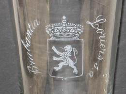 1930's Zeer Oud Bierglas BRABANTIA Brouwerij LORIERS (voorloper Van Brouwerij Hougaerde) Hoegaarden - Glasses