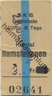 Schweiz - Kiental Ramslauenen SKRa - Einheimische - Fahrkarte 1974 - Europa