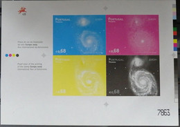 PORTUGAL PROOF WITH COLOUR BAND PAINT MIRAGE YEAR 2009 - ALSO THEMATIC ASTRONOMY , SPACE - Prove E Ristampe