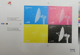 PORTUGAL PROOF WITH COLOUR BAND PAINT MIRAGE YEAR 2015 - ALSO THEMATIC SPACE SATELIC COMUNICATIONS - Prove E Ristampe