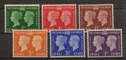 INGLATERRA YVERT 227/232 * Mh Serie Completa Centenario Del Timbre  1940  NL1247 - Nuevos
