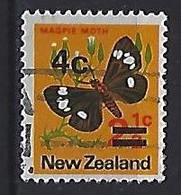 New Zealand 1971  Overprints 4c On 2.1/2c  (o) ACS.474 - Gebraucht