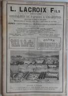 PUB 1889 - Papier Cigarettes RIZLA GOUDRONLA, Mastics à Marly-Valenciennes, Papier Sel De Vichy - Advertising