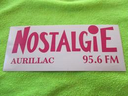 AUTOCOLLANT RADIO NOSTALGIE AURILLAC CANTAL 95.6 FM - Stickers
