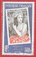 Polynésie N°8xx Jeune Fille De Bora Bora 500F 2009 O - Usati