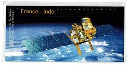 2015 émission Commune France Inde  Sous Blister Satellite Satellites Fusée Espace - Sin Clasificación