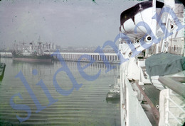 1950 WILMINGTON HARBOR SHIP USA AMERICA 35mm SLIDE PHOTO FOTO N36 - Diapositives (slides)