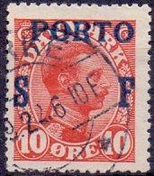 DENEMARKEN 1923 Portzegel Opdruk SF Op 10öre GB-USED - Postage Due