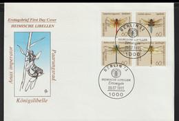 Germany FDC 1991 Heimische Libellen  (G129-49) - FDC: Covers