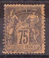 Sage N° 99 - Oblitération CàD Cercle Extérieur Tireté - 1876-1898 Sage (Type II)