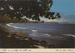 X123521 OCEANIE POLYNESIE FRANCAISE TAHITI ARVE ET SA PLAGE DE SABLE NOIR - Tahiti