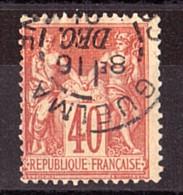 Sage N° 94 Rouge-orange - Oblitération CàD Cercle Intérieur Tireté Guelma (Algérie) - 1876-1898 Sage (Type II)