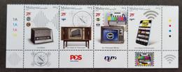Malaysia RTM 75th Anniversary Radio Television 2021 Telecommunication Handphone Signal (stamp Logo) MNH - Malaysia (1964-...)