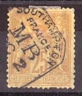 Sage N° 92 - Oblitération Anglaise MB Boîte Mobile Southampton - 1876-1898 Sage (Tipo II)