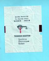 """Enveloppe De Sucre Ancienne FRANCOIS - """"THOMSON HOUSTON"""" - Systèmes Electroniques Radards- CL.12.099 - Sugars"""
