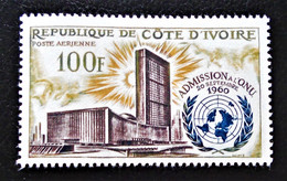 2 ANS AUX NATIONS-UNIES 1962 - NEUF * - YT PA 25 - MI 244 - Ivory Coast (1960-...)