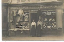 VILLENEUVE SAINT GEORGES. CARTE PHOTO. Magasin De Nouveautés. Mercerie RAMOND-LORIN - Villeneuve Saint Georges