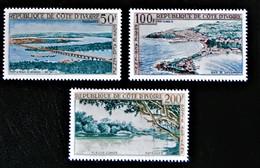 PAYSAGES 1963 - NEUFS * - YT PA 26/28 - Ivory Coast (1960-...)