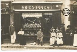 LUCON. CARTE PHOTO. Devanture Du Bijoutier-Horloger VRIGNONNEAU. - Lucon