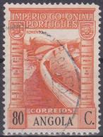 Angola (Port. Kolonie) 1938. FM Port. Kolonialreich: Staudamm, Stausee, Brücke, 80 C Orange/schw., Mi 277, Afi 269 Gebr - Factories & Industries
