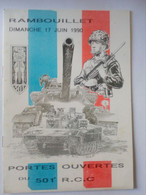 FRANCE D332 CHAR 501E R.C.C. FOLDER ENCART SANS CARTE WITHOUT CARD - Ad Uso Privato