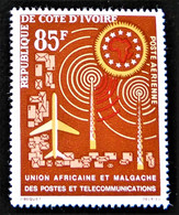 2 EME ANNIVERSAIRE DE L'U.A.M.P.T 1963 - NEUF * - YT PA 29 - MI 250 - Ivory Coast (1960-...)